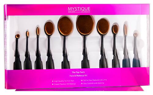 Mystique Cosmetics The Top Tools Face & Makeup Kit (MYS02-10PC)