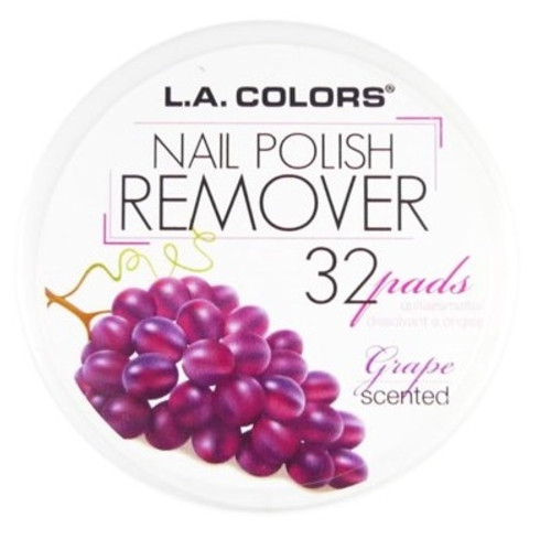 L.A. Colors Scented Polish Remover Pads - Grape (CNRGRAPE) ladymoss.com
