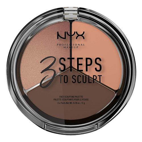 NYX 3 Steps To Sculpt Face Sculpting Palette - Deep