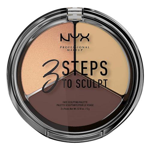 NYX 3 Steps To Sculpt Face Sculpting Palette - Medium