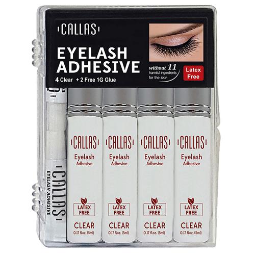 Callas Eyelash Adhesive Clear 4 Pack Set