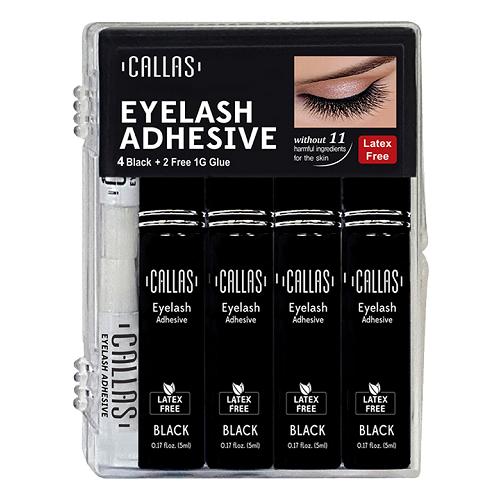 Callas Eyelash Adhesive Black 4 Pack Set