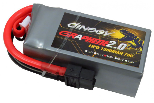 DINOGY GRAPHENE 2.0 4S 1300 70C LIPO  **YOU MUST SELECT USPS PARCEL SELECT FOR SHIPPING** (if any other shipping method is selected the order will be cancelled)