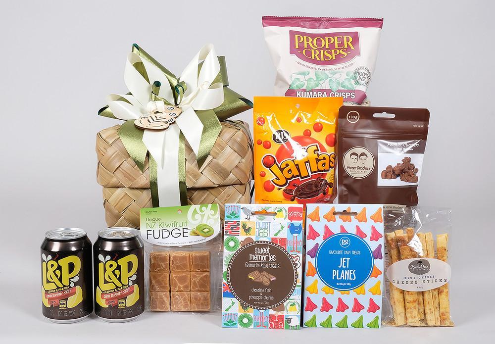 Kiwi Gift Basket; NZ Gift Basket; Best NZ Hamper; Kiwiana Gift Hamper
