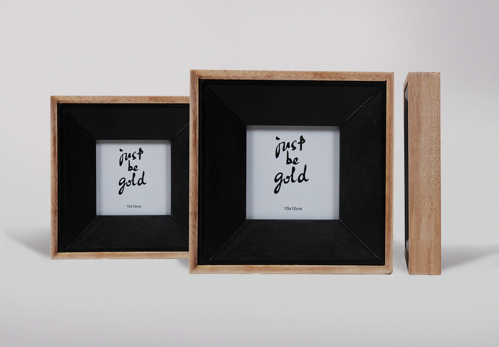 Natural/Black Photo Frames