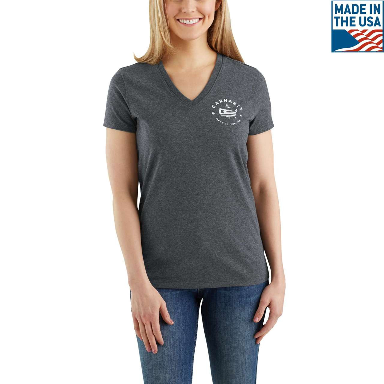 classic shoes hot sales release date: Carhartt Women's USA Graphic T-shirt