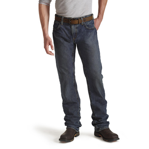Ariat FR M5 Slim Straight Jean Front - Shale - 10015166
