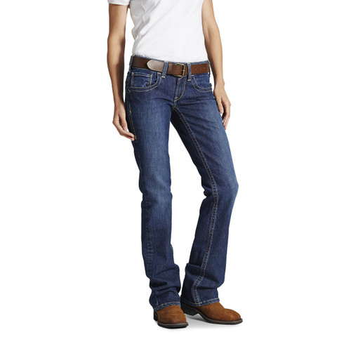 Women's FR Ariat jeans in blue quartz color - 10016176