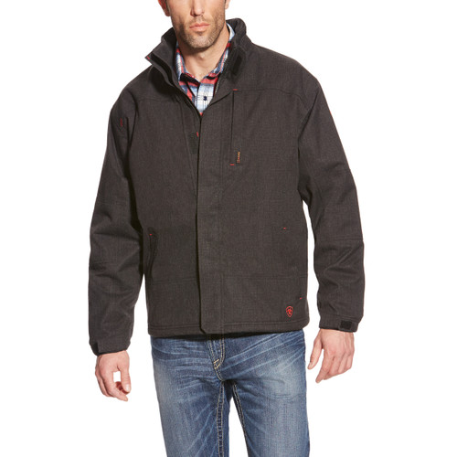 Front of Ariat FR H20 insulated waterproof jacket  Black - 10018144