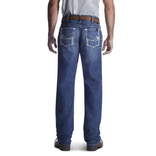 white stitched pocket Ariat FR Ridgeline jeans - 10018365 - Glacier