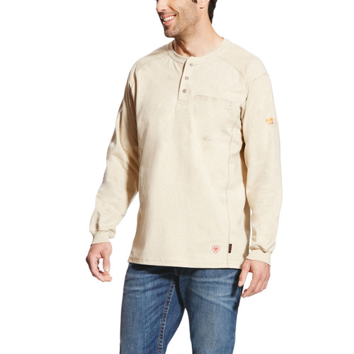 Ariat 10022598 FR Air Henley Sand Heather