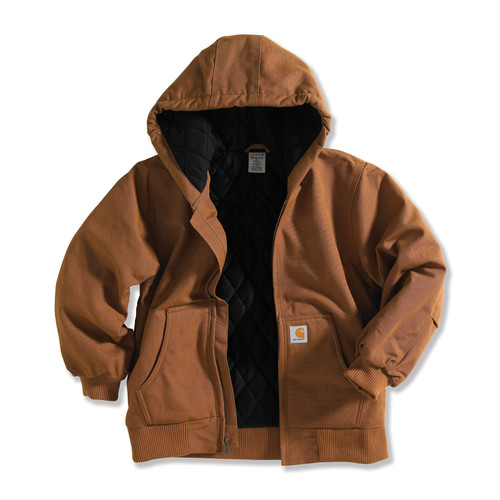 Kids Carhartt Active Jacket in Carhartt Brown CP8417 - D15