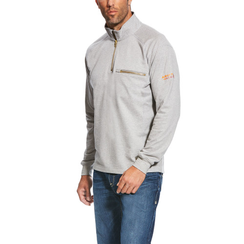 Ariat FR Rev 1/4 Zip Top 10022334-Heather Grey
