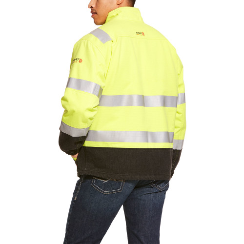 10024022 | Hi-VIS Yellow Ariat FR HI-VIS Insulated Waterproof Jacket
