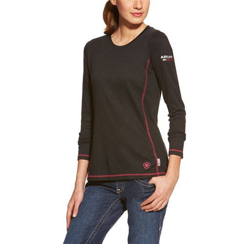 Ariat Women's FR Polartec Power Dry Top- Black (10015902)