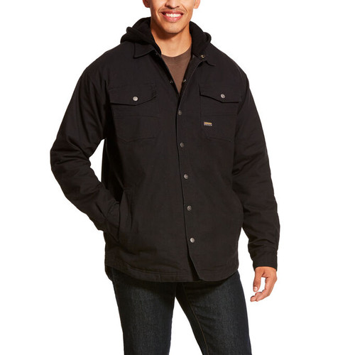 Men's Rebar Work Black Foundry Insulated Shirt Jacket (10027856)