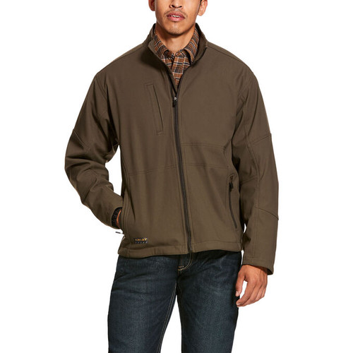 Ariat 10027872 Men's Rebar Stretch Canvas Softshell Jacket