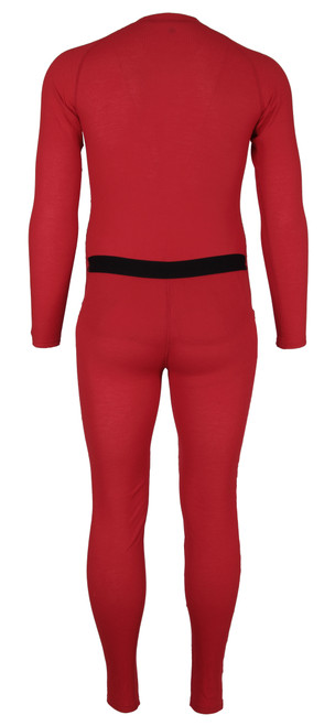 back view with flap - Carhartt Red Union Suit MUS130