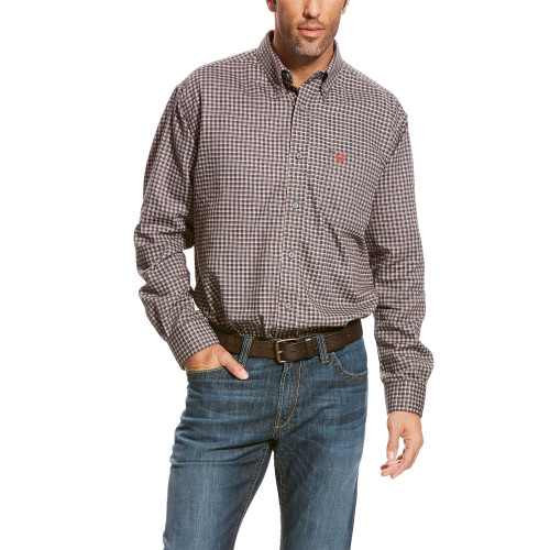 FR Ariat Optimus Gray Work Shirt 10023962