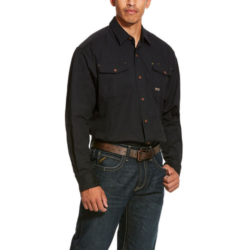 10027826 - Ariat Men's Work Shirt Black