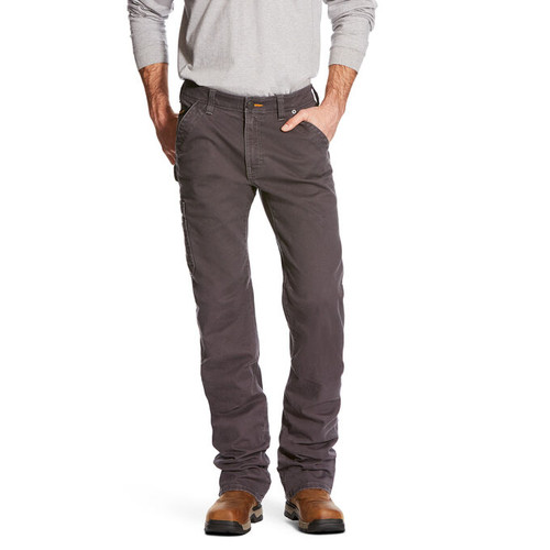 Ariat 10025973 Men's Rebar DuraStretch Washed Twill Dungaree Boot Cut