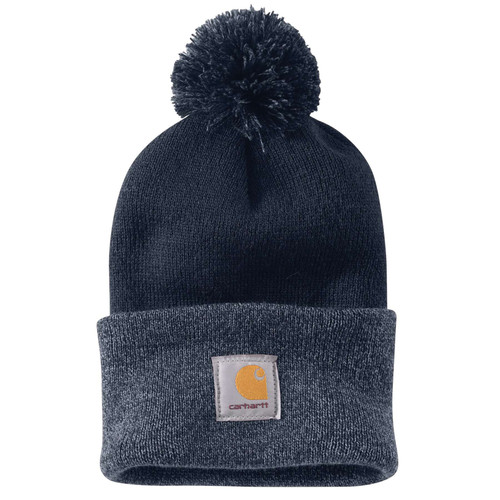 Navy Acrylic Lookout Pom Hat 102240