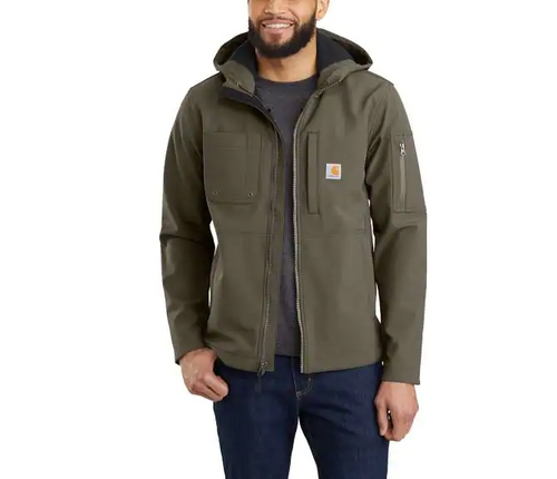 Carhartt 103829 Men's Hooded Rough Cut Jacket