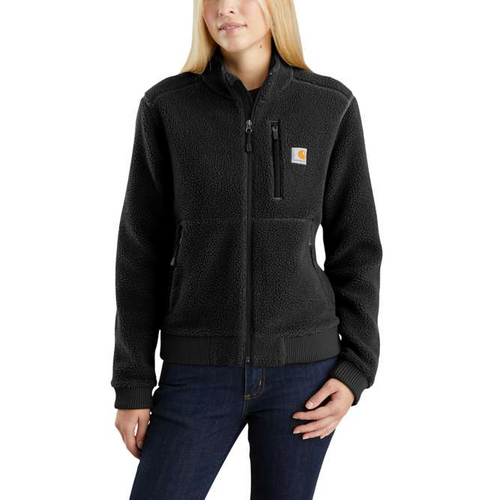 black Women's Carhartt Fleece jacket 103913-blk