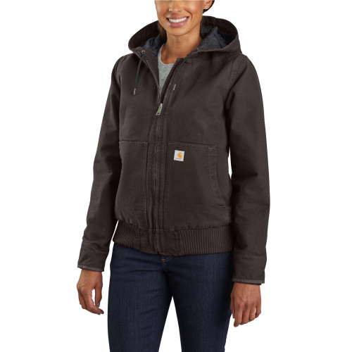 Dark Brown Women's Carhartt Washed Duck Active Jac 104053