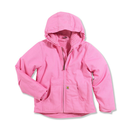 kids rosebloom Carhartt Redwood jacket with sherpa lining cp9456