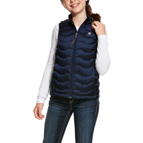 navy Girls Ariat Ideal Down Vest 10028360