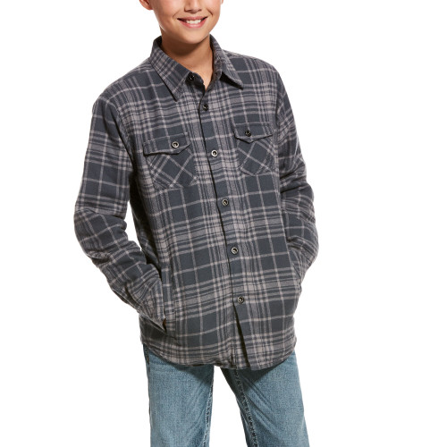 gray flannel Boy's Ariat jacket 10027956