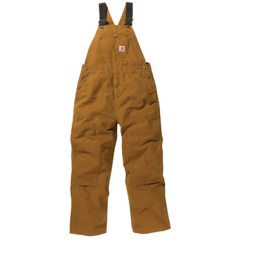 Boys' Carhartt Brown Duck Overall CM8601 Carhartt for Kids