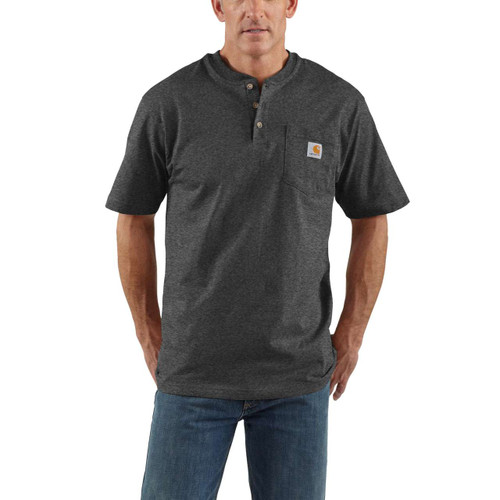 Carhartt Carbon Heather Henley Pocket T-shirt