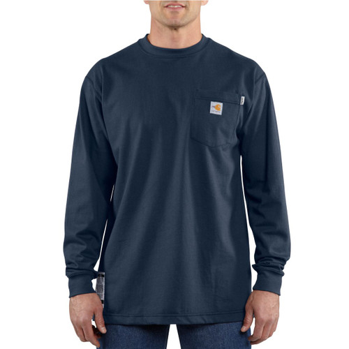 Carhartt FR Force Cotton T-Shirt 100235-DNY - Dark Navy