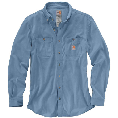 Carhartt FR Cotton Hybrid Shirt in medium Blue - 101698-465