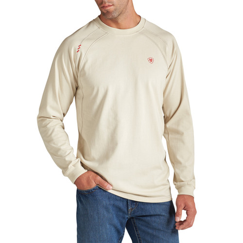 Ariat FR crew-neck Sand (bone) T-shirt- 10012254 - SAND