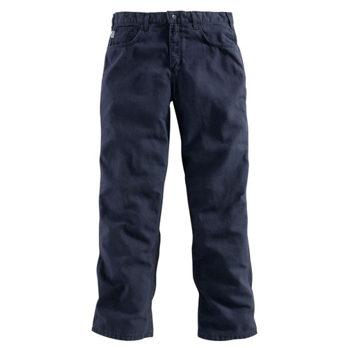 Carhartt Midweight Canvas Pant FRONT - FRB159 - DARK NAVY