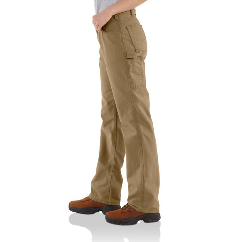 FR for Women's Cahartt Canvas pant WFRB159 - GOLDEN KHAKI