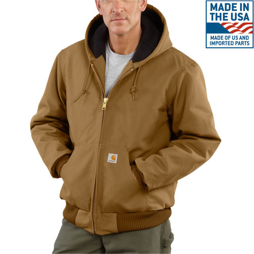 Carhartt Brown Quilted Active Jac J140-BRN