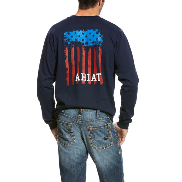 Patriotic and FR safe in this Ariat FR Graphic T-shirt 10023951