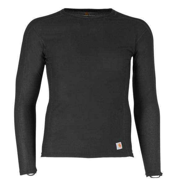 Carhartt Base Layer FORCE Lightweight Crew in black - front view MBL101-BLK