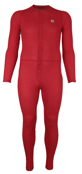 Carhartt Classic Red Union Suit - front view MUS130