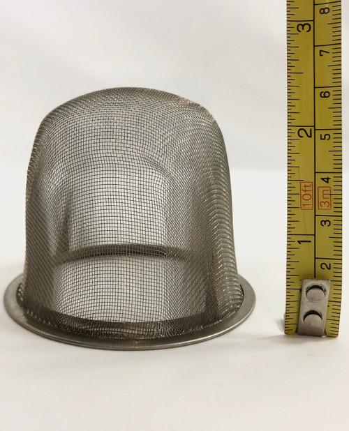 Tesil är i rostfritt mesh 7 cm