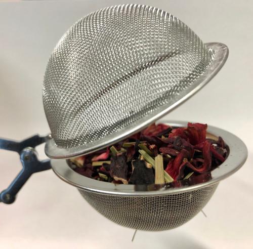 Tetång, Tesil, Teklämma på skaft i rostfritt 65mm kula