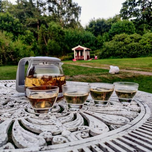 Tekanna med 4 små glas för grönt te - Lätt Liv (max 80°C)