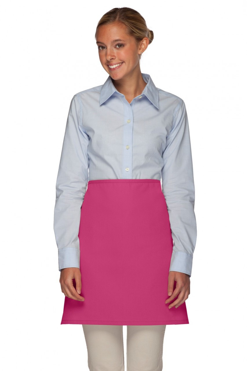 Hot Pink No Pocket Restaurant Server Half Bistro Apron