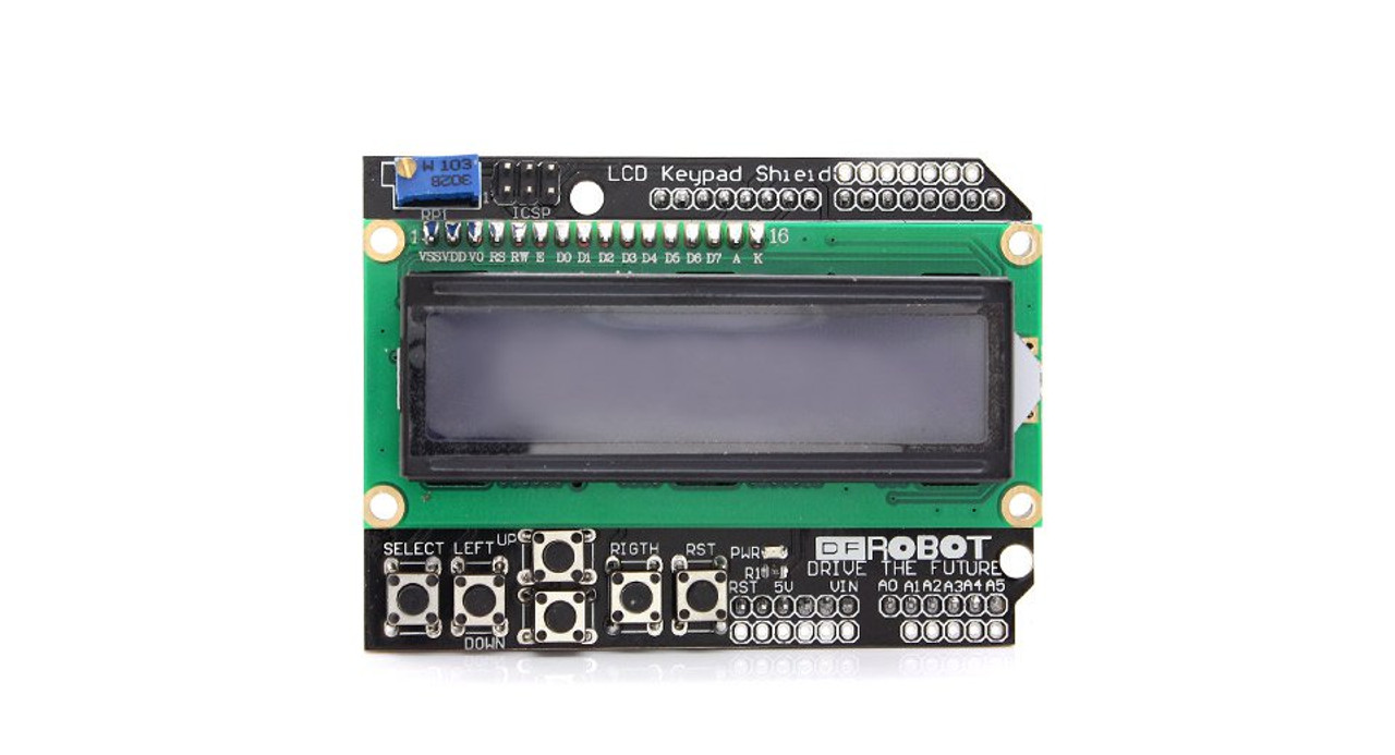 LCD1602 Arduino Compatible LCD Keypad Shield