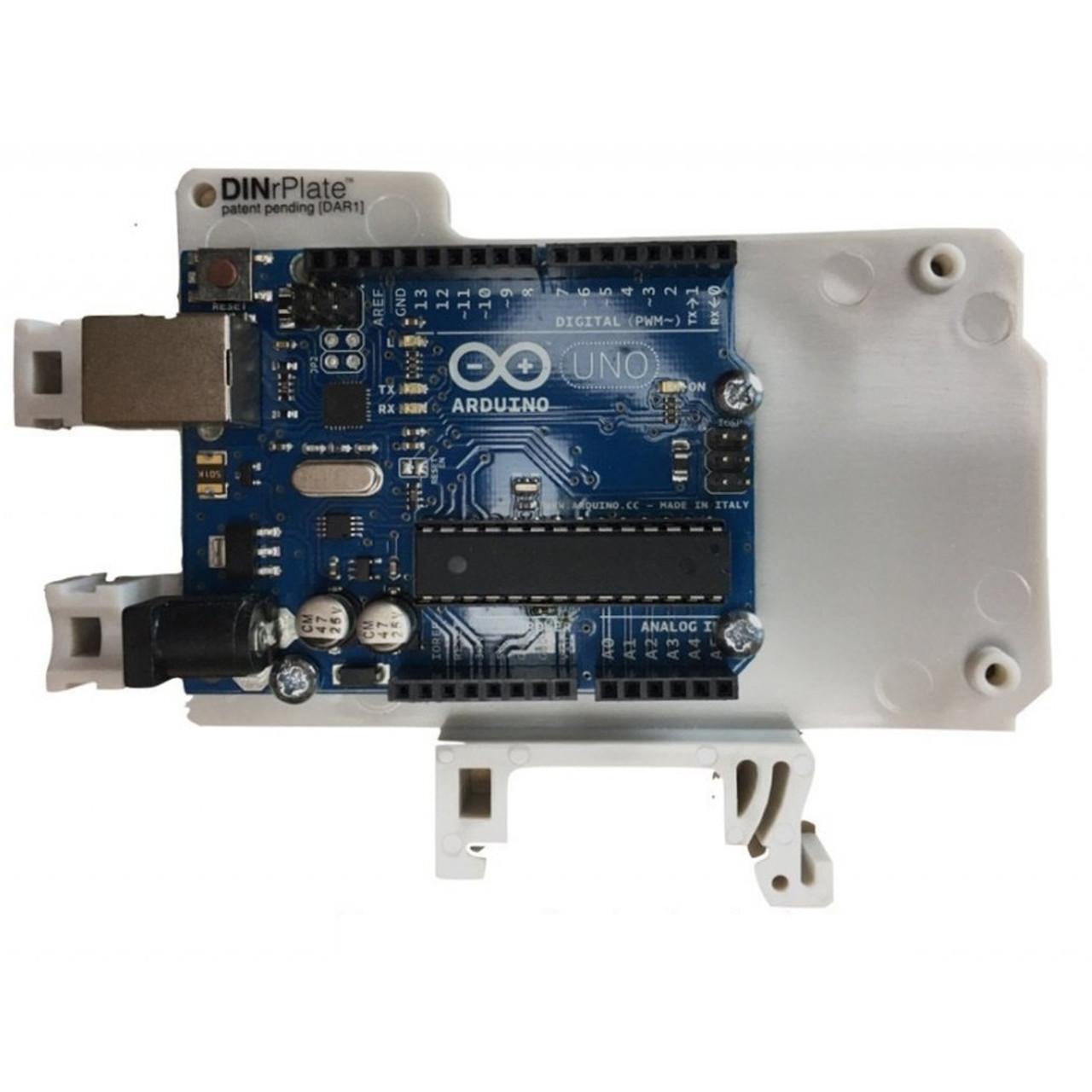 DINrPlate - DIN Rail Mount for Arduino Uno/Mega