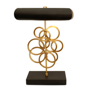 SE-002 - DAMAGED - SEDNA TABLE LAMP (R) -  MATT BRASS/BLACK -DA-424